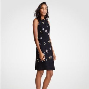 Ann Taylor Black Eyelet Floral Embroidered Dress